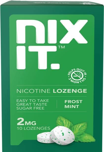 nixit Nicotine Sugar-free Lozenges 2mg (3 x 10 Pcs, Frost Mint) Smoking Cessations