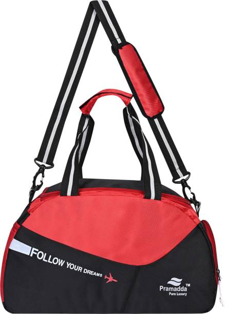 Pramadda Pure Luxury Duralite Sports Football Gym Bag Small Travel Duffle Bag With Shoe Compartment.