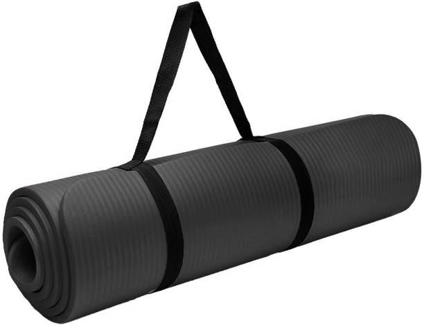 Unique Decor Exercise & Workout Mat Non-Skid surface Comfort for Fitness Meditation & Aasans Black 6 mm Yoga Mat