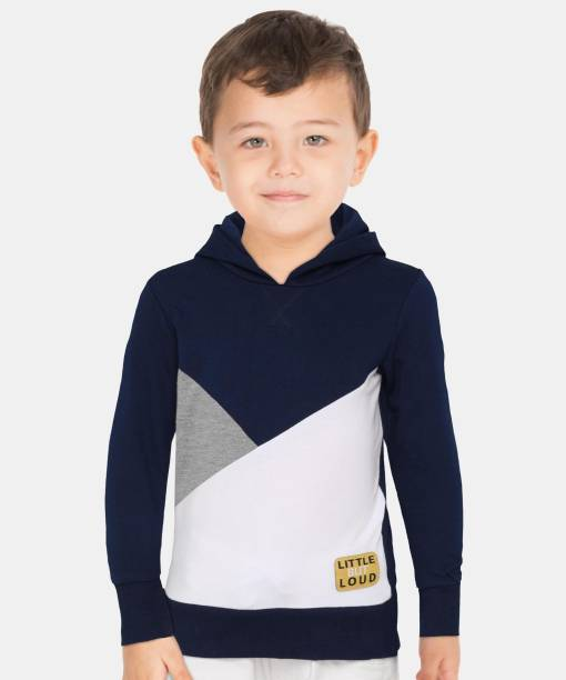 Miss & Chief Full Sleeve Color Block Boys Sweatshirt