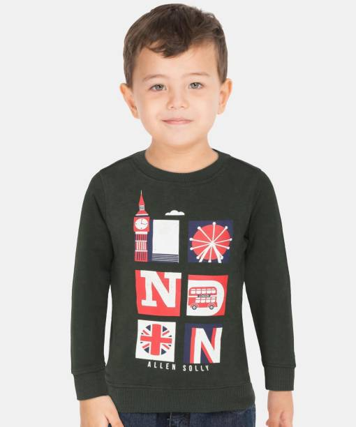 allen solly Full Sleeve Graphic Print Boys Sweatshirt