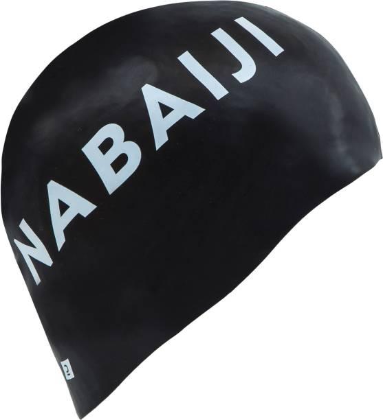 NABAIJI by Decathlon SILICONE SWIM CAP - BLACK Swimming Cap