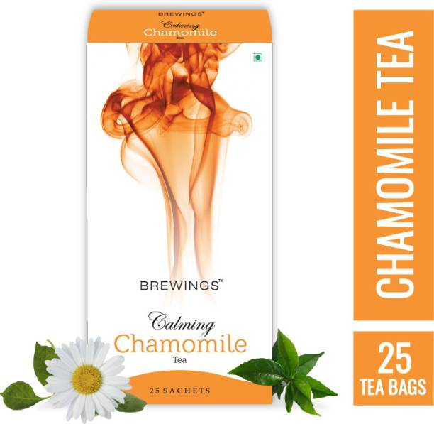 Brewings Calming Chamomile Tea with herbal infusion Chamomile Herbal Tea Bags Box