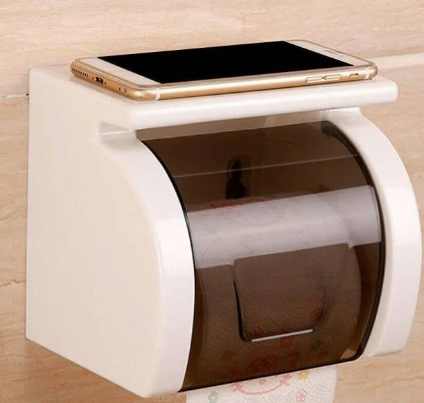 Corslet Magic Sticker Series Self Adhesive Bathroom Toilet Tissue Paper Roll Holder Dispenser Plastic Plastic Toilet Paper Holder