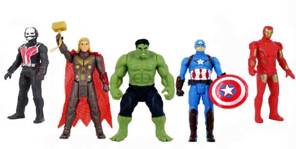 Wishkart The Team Of Super Heroes Set of Five Action Figures