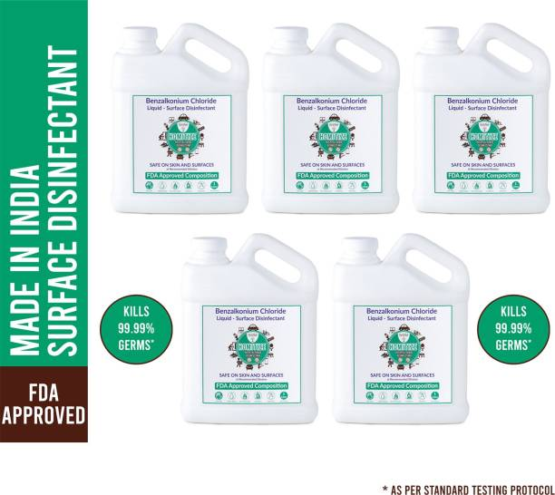 Herb Shala Instant Germ Protection Multi Purpose Surface Cleaner 1Ltr (Pack Of 5)