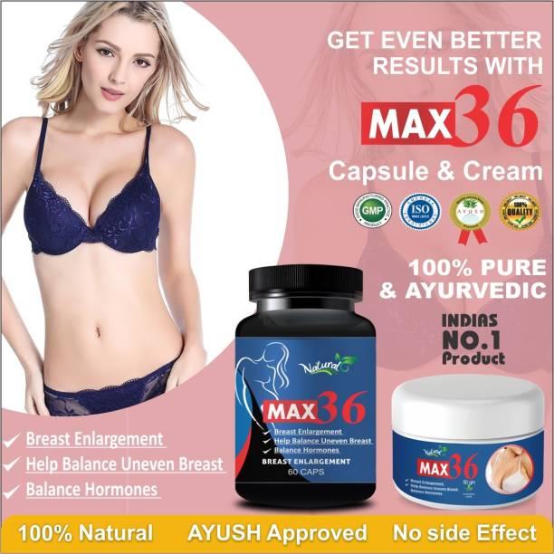 Natural Max 36 Capsules & Cream For Women's Health Care 100% Ayurvedic