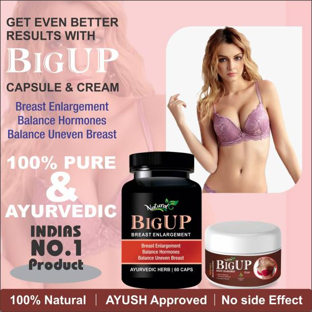 Natural Big Up Capsules & Cream For Women's Health Care 100% Ayurvedic