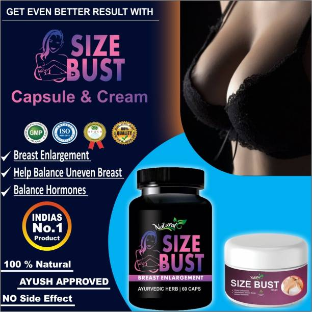 Natural Size Bust Capsules & Cream For Women's Health Care 100% Ayurvedic