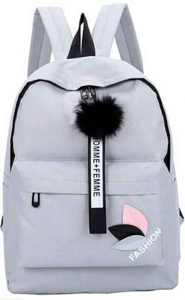 Diving deep PU leather Casual Backpacks for Girls 20 L Backpack