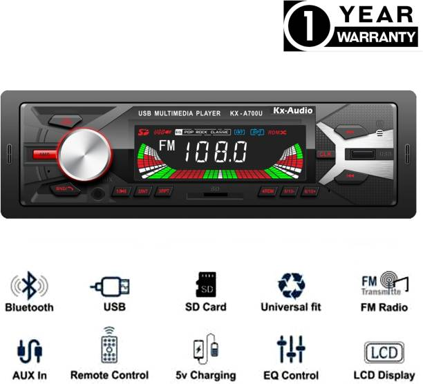JBRIDERZ JB-2102DUALUSB Pro Boom Master BLUETOOTH/USB/SD/AUX/FM/MP3 with Phone caller ID Receiver Universal Car Stereo Car Stereo