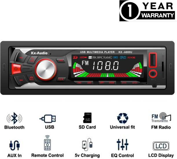 JBRIDERZ JB-2101DUALUSB Pro Boom Master BLUETOOTH/USB/SD/AUX/FM/MP3 with Phone caller ID Receiver Universal Car Stereo Car Stereo