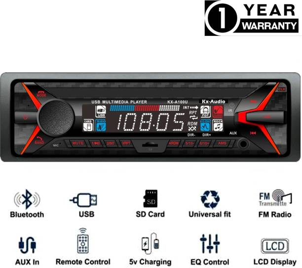JBRIDERZ JB-2106DUALUSB Pro Boom Master BLUETOOTH/USB/SD/AUX/FM/MP3 with Phone caller ID Receiver Universal Car Stereo Car Stereo