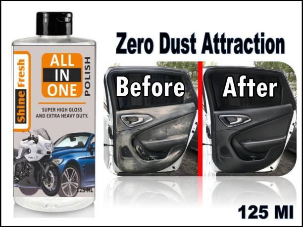 Shine Fresh Liquid Car Polish for Leather, Tyres, Dashboard, Exterior