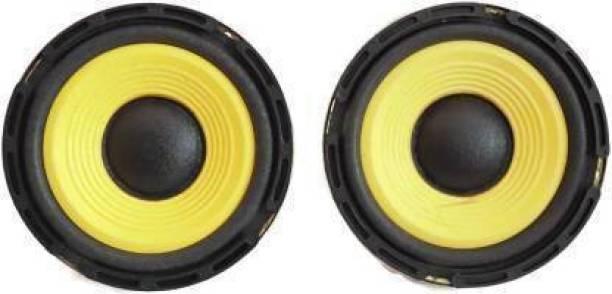 E-ivsaJ 5 Inch subwoofer Speaker 4 ohm 50 Watt HiFi Woofer Deep Bass for Home Theater 5 Inch subwoofer Speaker (Pack of 2) Subwoofer