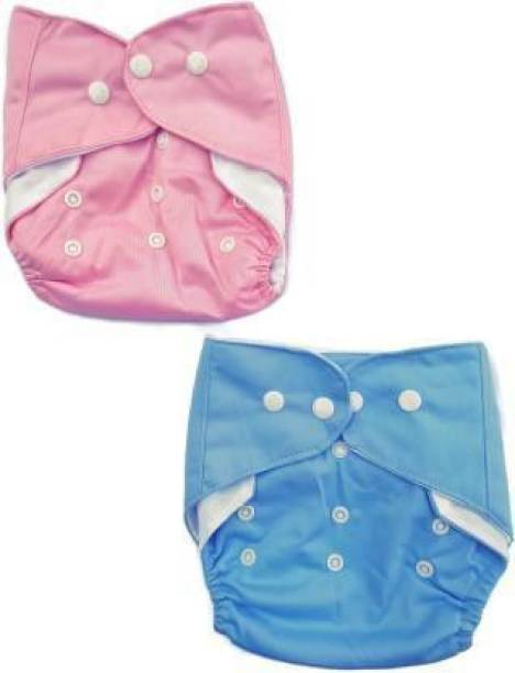 SMULY 2 Waterproof Reusable Washable Cloth Diaper Nappies Without Inserts - L - XL