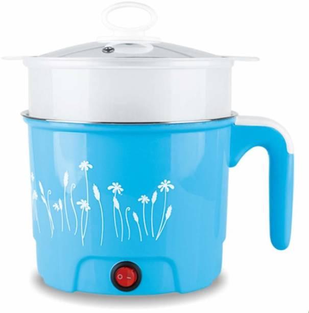Wengvo 1.5 L Electric Multifunction Cooking Pot, Soup & Noodle Maker, Egg Boiler, Vegetable & Rice Cooker with Rice Cooker, Food Steamer, Travel Cooker, Slow Cooker, Egg Cooker, Egg Boiler