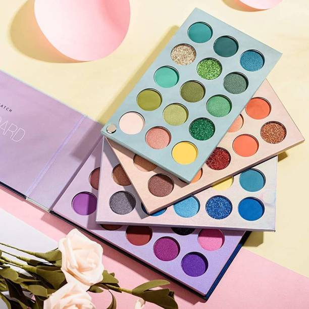 Microbirdss Eyeshadow Palette 60 Colors Mattes And Shimmers High Pigmented Color Board Palette Long Lasting Makeup Palette Blendable Professional Eye Shadow Make Up 60 g