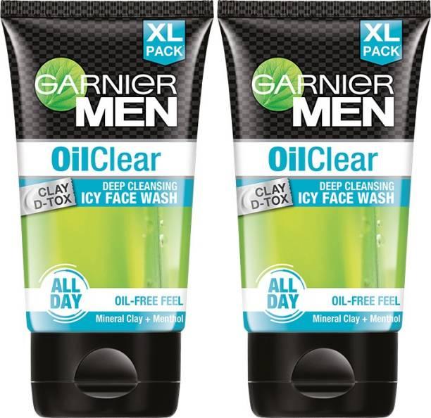 GARNIER Oil Clear Facewash - Oil Control Deep Cleansing Facewash For Men, 150gm (Pack of 2) Face Wash