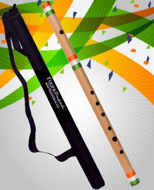 Foora Musical Indian Flag C Scale Flute Special Edition Right Handed Bamboo Flute ( Export ) Bamboo Flute