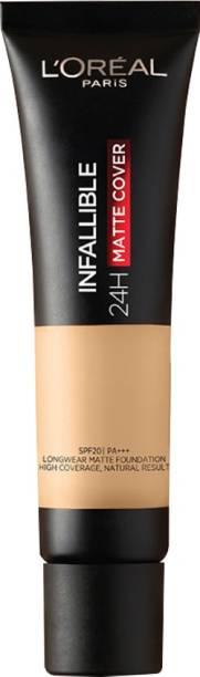 L'Oréal Paris Infallible 24H Matte Cover Liquid Foundation, 140 Golden Beige, 35 ml Foundation