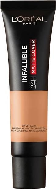 L'Oréal Paris Infallible 24H Matte Cover Liquid Foundation, 255 Natural Sand, 35 ml Foundation