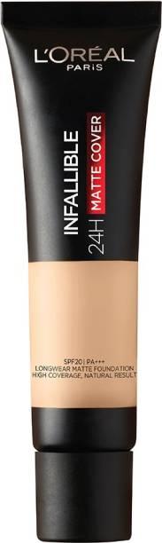 L'Oréal Paris Infallible 24H Matte Cover Liquid Foundation, 125 Natural Rose, 35 ml Foundation