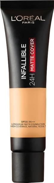 L'Oréal Paris Infallible 24H Matte Cover Liquid Foundation, 118 Rose Linen, 35 ml Foundation