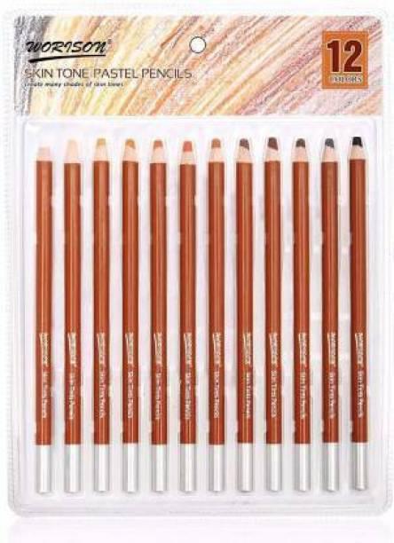 WORISON Graphite izone skin tone pastel pencil ,round shaped pencil(browen) Pencil