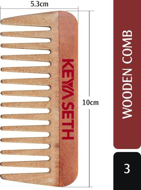 KEYA SETH AROMATHERAPY Neem Wooden Comb Wide Tooth for Hair Growth for Men & Women All Purpose Small Size.