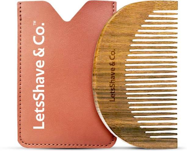 LetsShave Neem Wood Beard Comb - 100% Neem Wood Comb