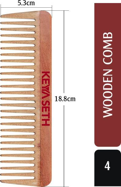 KEYA SETH AROMATHERAPY Neem Wooden Comb Wide Tooth for Hair Growth for Men & Women All Purpose Large Size Perfect Hair Setter.