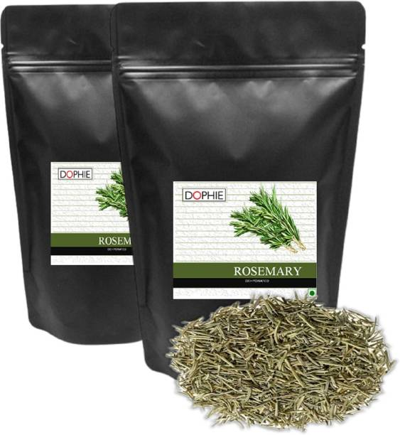 dophie Rosemary Herbs , Culinary Dried Rosemary Leaves for Tea, & Seasonings ,Spices Blends for Grilling and Cooking 100gm[pack-2]