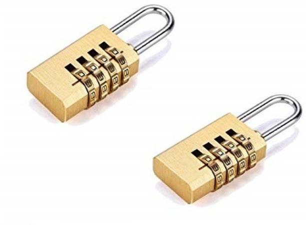 Volo 4 Digit Brass Re-Settable Combination Padlock Lock