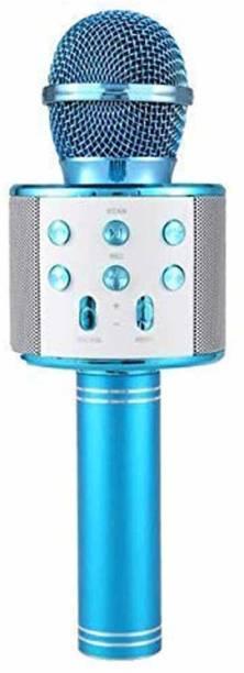 STAR WORLD Bhawna Best Quality Small Shape Microphone Bluetooth Speaker for Karaoke mic microphone for kids/ Singer Microphone Microphone 858