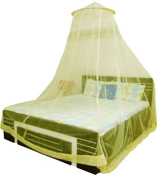 Neruti Enterprise Nylon Adults Double bed (Round) Mosquito Net