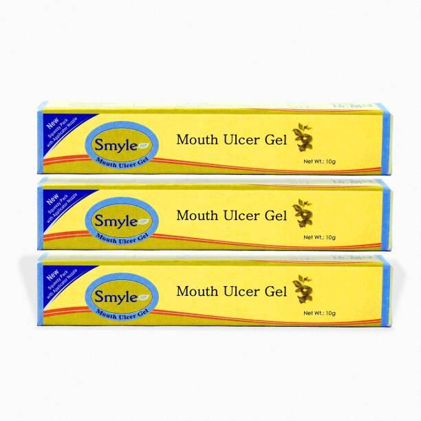 Smyle Ayurvedic Mouth Ulcer Gel - 10 gm (Pack of 3) - Minty