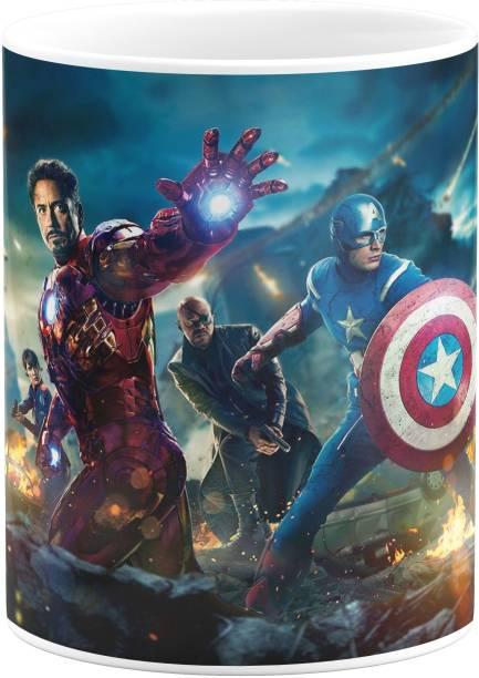 purezento Avengers superheroes marvel captain america iron man thor hulk Ceramic Coffee Mug