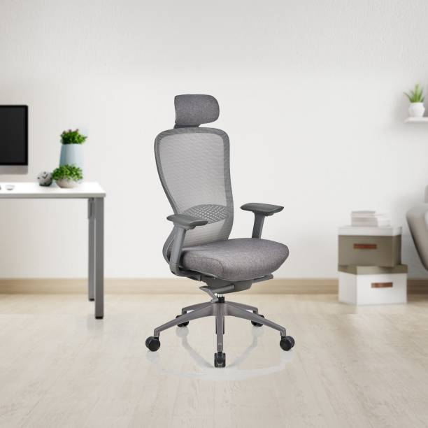 Featherlite Helix HB Mesh Fabric Office Adjustable Arm Chair
