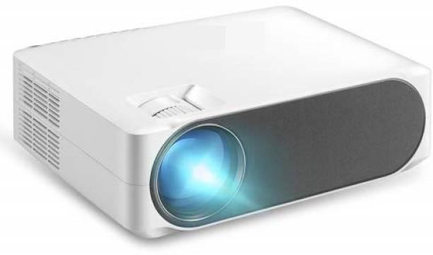 AUN AKEY6 Full-HD 6800 Lumens Home Theater 1080P Basic Version USB*2, HDMI, VGA, AV, SD Card, LED Projector (6800 lm) Portable Projector