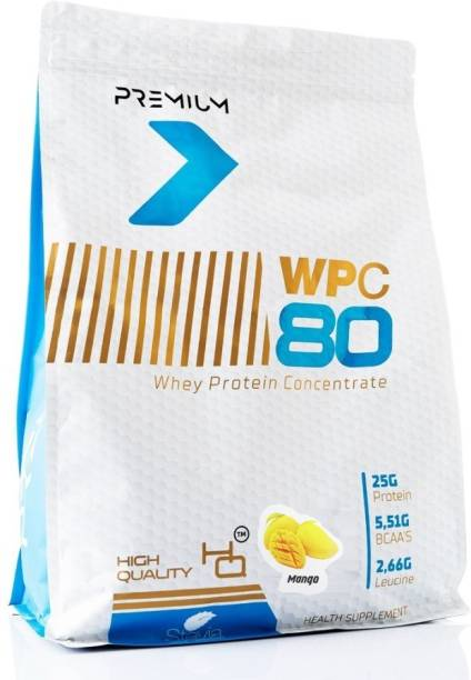 Muscle Science Premium WPC 80 Whey Protein Concentrate - 25g Protein, 5.51g BCAA, 2.66g Leucine Whey Protein