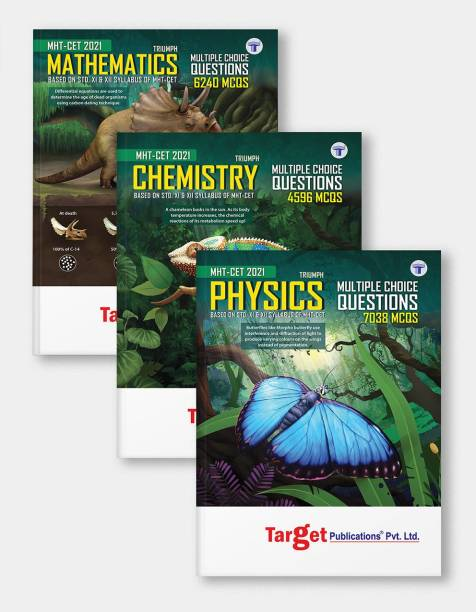 MHT CET Triumph Physics, Chemistry And Maths (PCM) MCQ Books Combo For 2021 Engineering And Pharmacy Entrance Exam | Based On Relevant Chapters Of 11th And 12th Syllabus Of Maharashtra Board | 3 Books