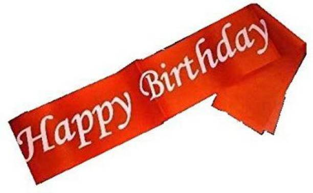 gorgeous moment Color Satin 'Happy Birthday' SASH for Kids, Girl, BOY, and Others Birthday Party, Party Decoration Items