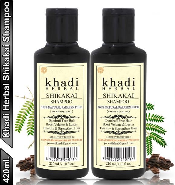 Khadi Herbal Shikakai Shampoo/Hair Cleanser For Nourishing and Revitalizing (Pack Of-2)
