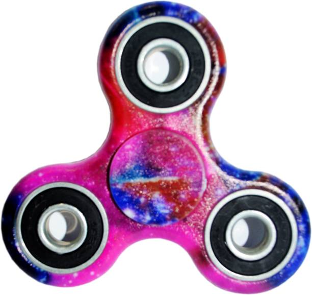 PREMSONS Premium Quality Fidget Tri Spinner Printed 608 Four Bearing Amazing Spin Time Ultra Speed Hand Spin Toy Elysian Galaxy
