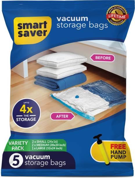 Smart Saver Space Saver Bags Standard pack of 5 Vacuum Bags Travel Storage Vacuum Bags