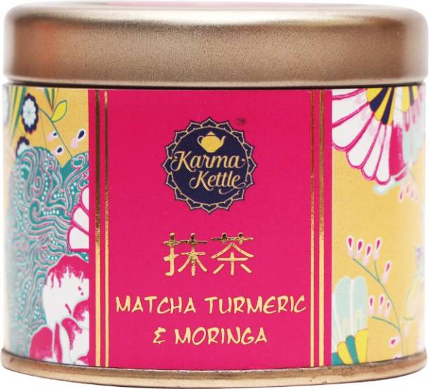 Karma Kettle Matcha Turmeric & Moringa Matcha green tea Matcha Tea Tin