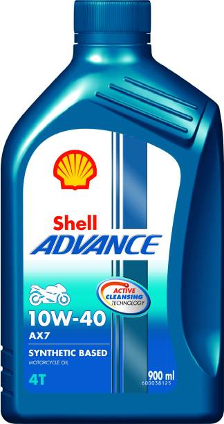 Shell Advance AX7 4T 10W-40 API SM Synthetic Blend Engine Oil