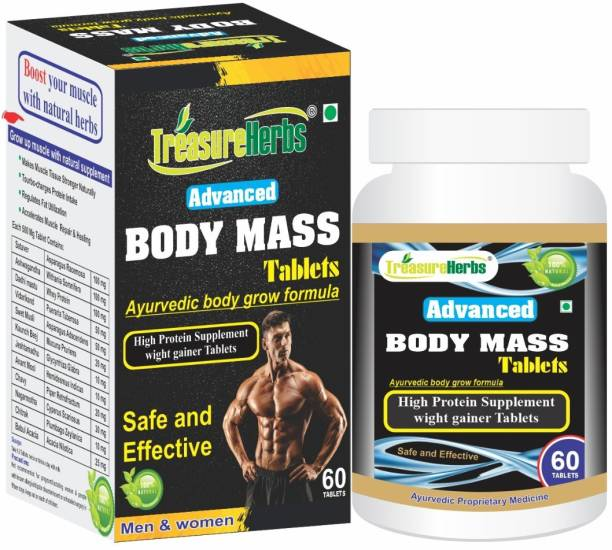 TreasureHerbs BODY Mass Tablets for Men and Women Weight Gainers/Mass Gainers