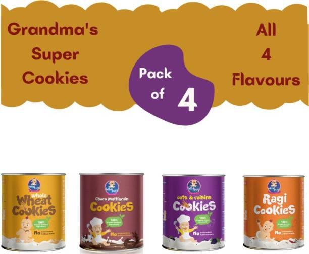 bebe burp Bebe Burp Organic Baby Food Cookies Combo 1 (Pack of 4, 100 Gms Each) Baby Snacks 100 g